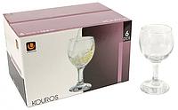 Набор бокалов 6 шт 165 мл стеклянных для белого вина Kouros UniGlass
