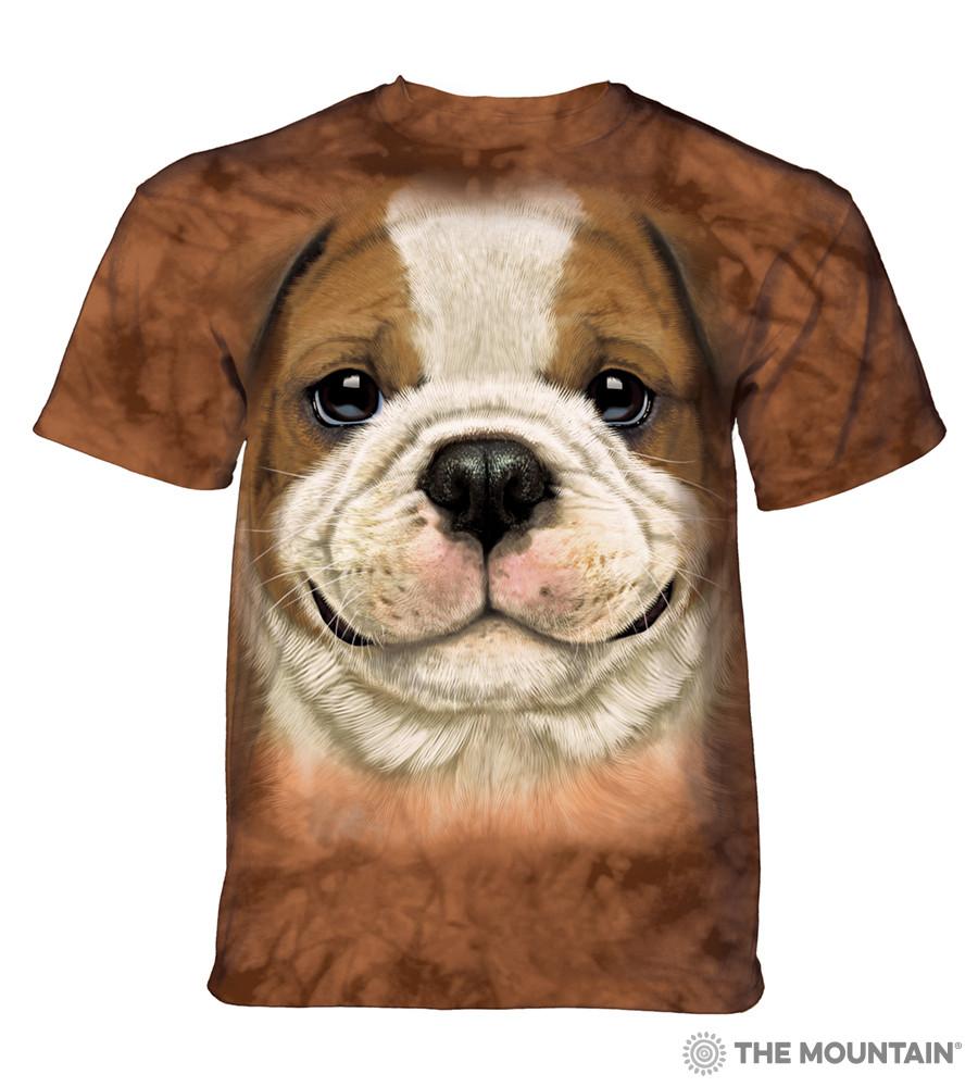 3D футболка мужская The Mountain размер 2XL 60-62 RU футболки с 3д принтом рисунком - Щенок Бульдога