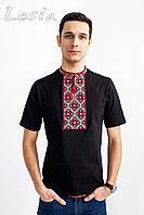 Чоловіча футболка Козацька червоно-сіра