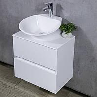Тумба из литого камня в ванную с умывальником Nila 550x360x500 Fancy Marble MAN
