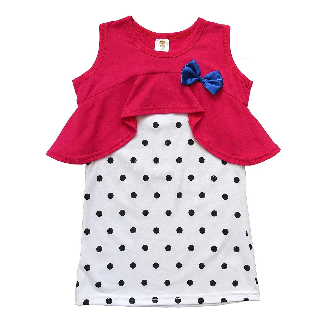 Летнее платье-туника для девочки. 120 см