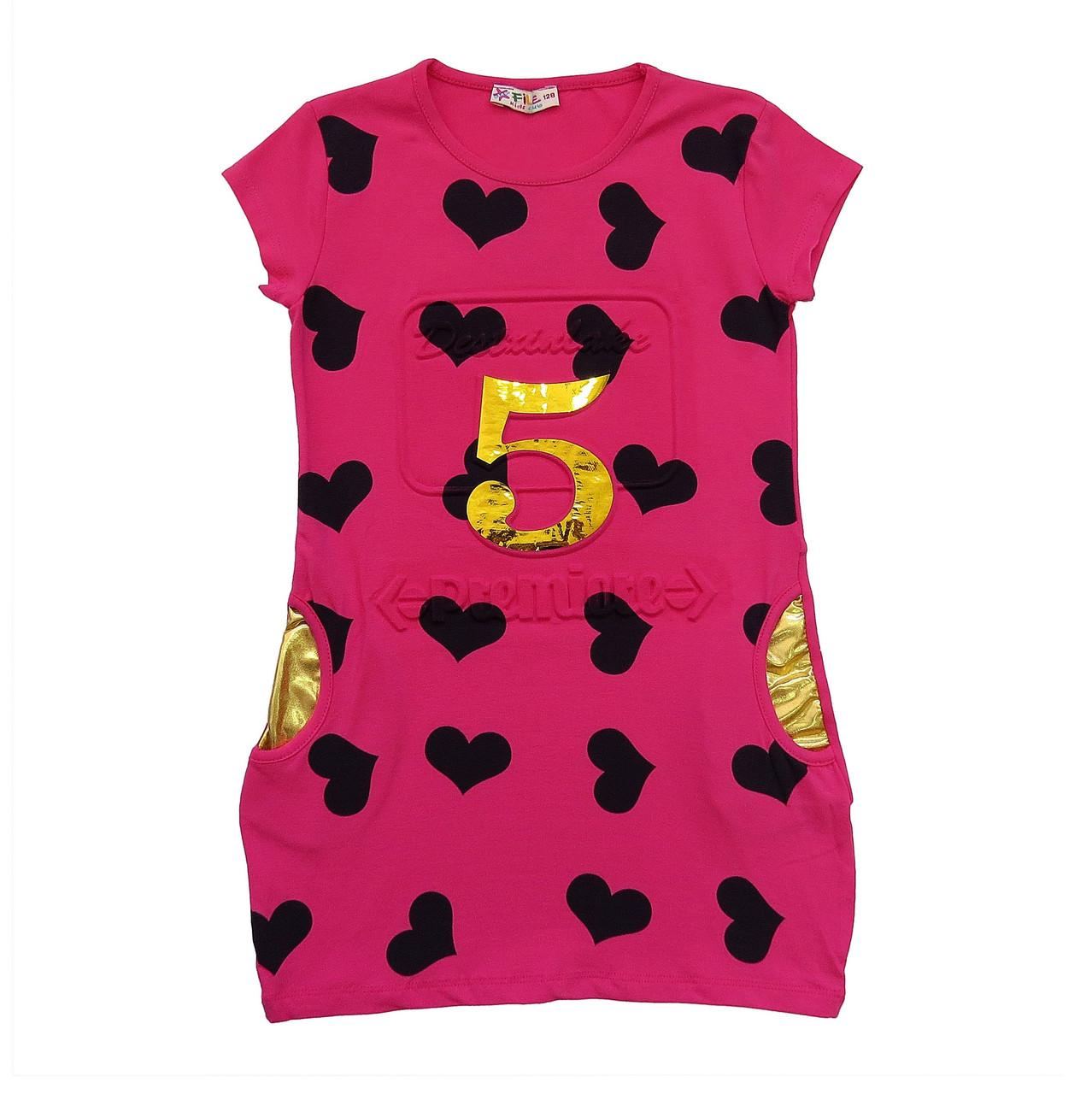 Летнее платье-туника для девочки. 128, 152, 164 см