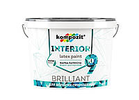 Краска матовая для влажных помещений и откосов Kompozit INTERIOR 9 (4.5 л)