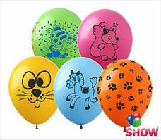 "Воздушные шарики  12"" Микс ""Зверюшки"""