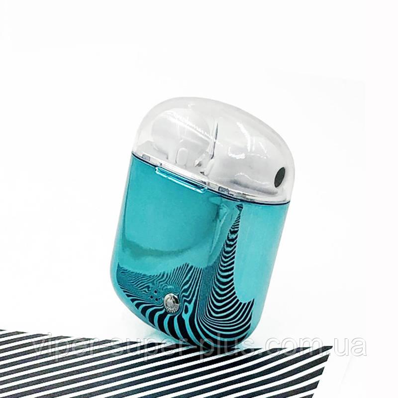 Цветные Беспроводные Блютуз наушники HBQ I7s TWS БИРЮЗА Bluetooth с кейсом