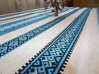 Синя скатертина вишита, фото 1