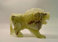 Лев из оникса 12 см