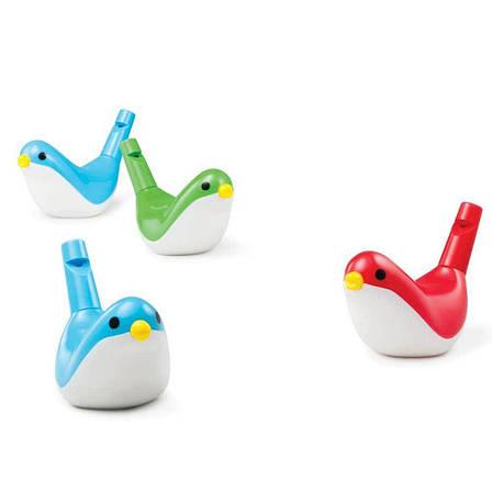 Свисток Птичка. (цвет в ассорт. красный, зеленый, голубой) Kid O, фото 2