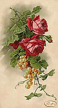 """Схема для вишивки бісером """"Троянди й виноград"""""""