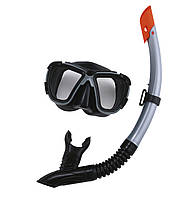 Bestway 24021-grey, набор для плавания, маска и трубка, от 14 лет. Серая, фото 1