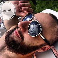 Солнцезащитные очки Bvlgari черные с золотом, фото 1