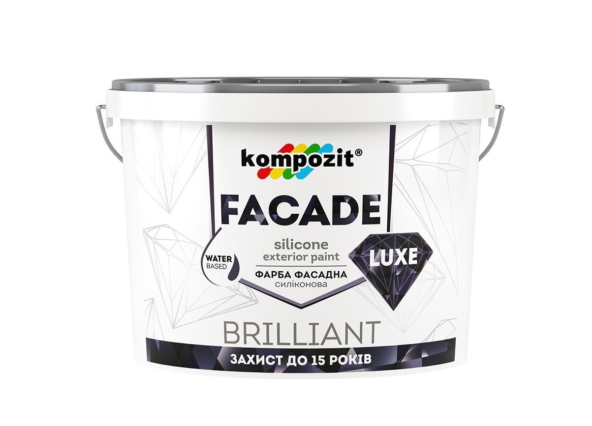 Краска фасадная матовая Kompozit FACADE LUXE (14 кг)