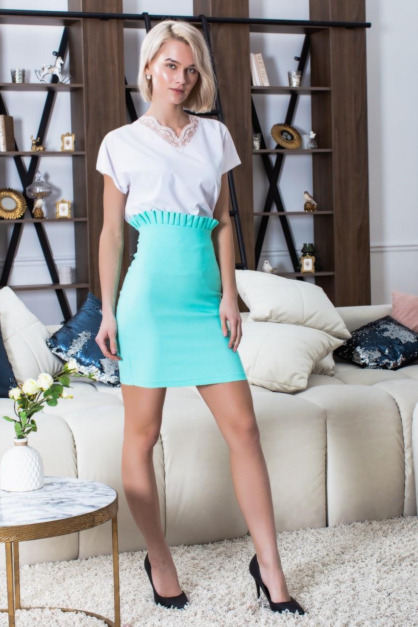 Джинсовая короткая юбка 180
