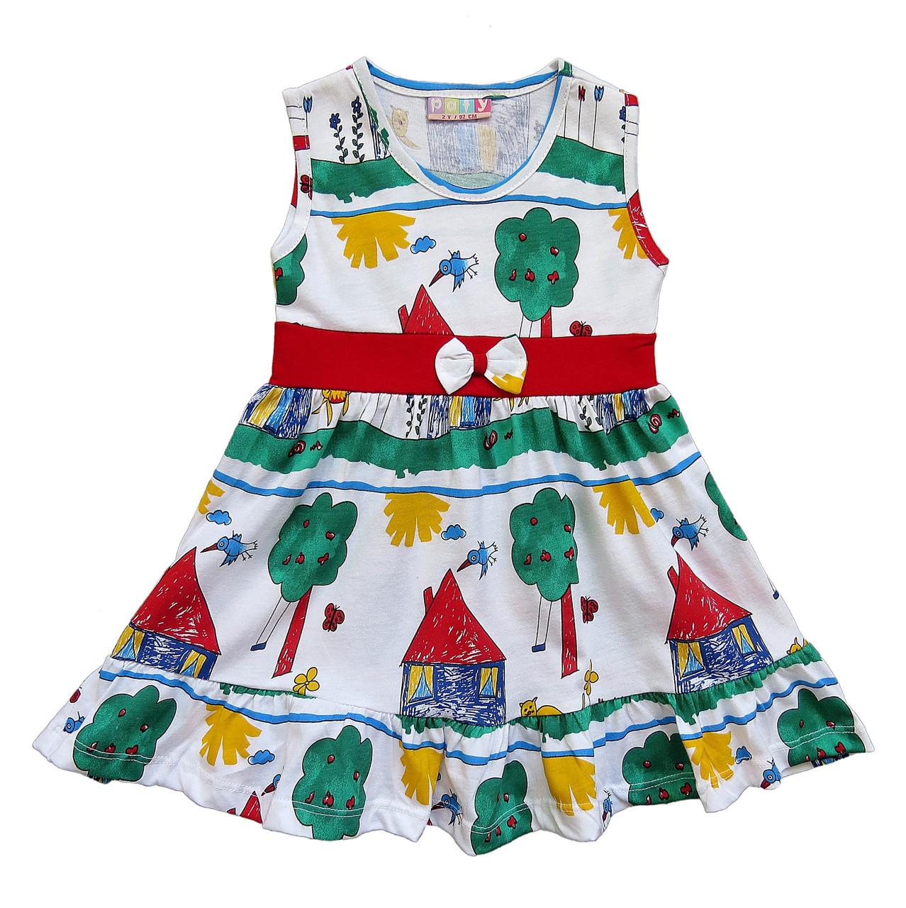 Летнее платье для девочки. Маломерит. 86, 92, 98 см