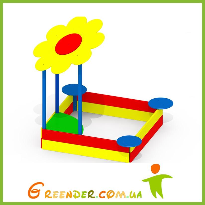 Песочницы для детей игровые на улицу Ромашка P33