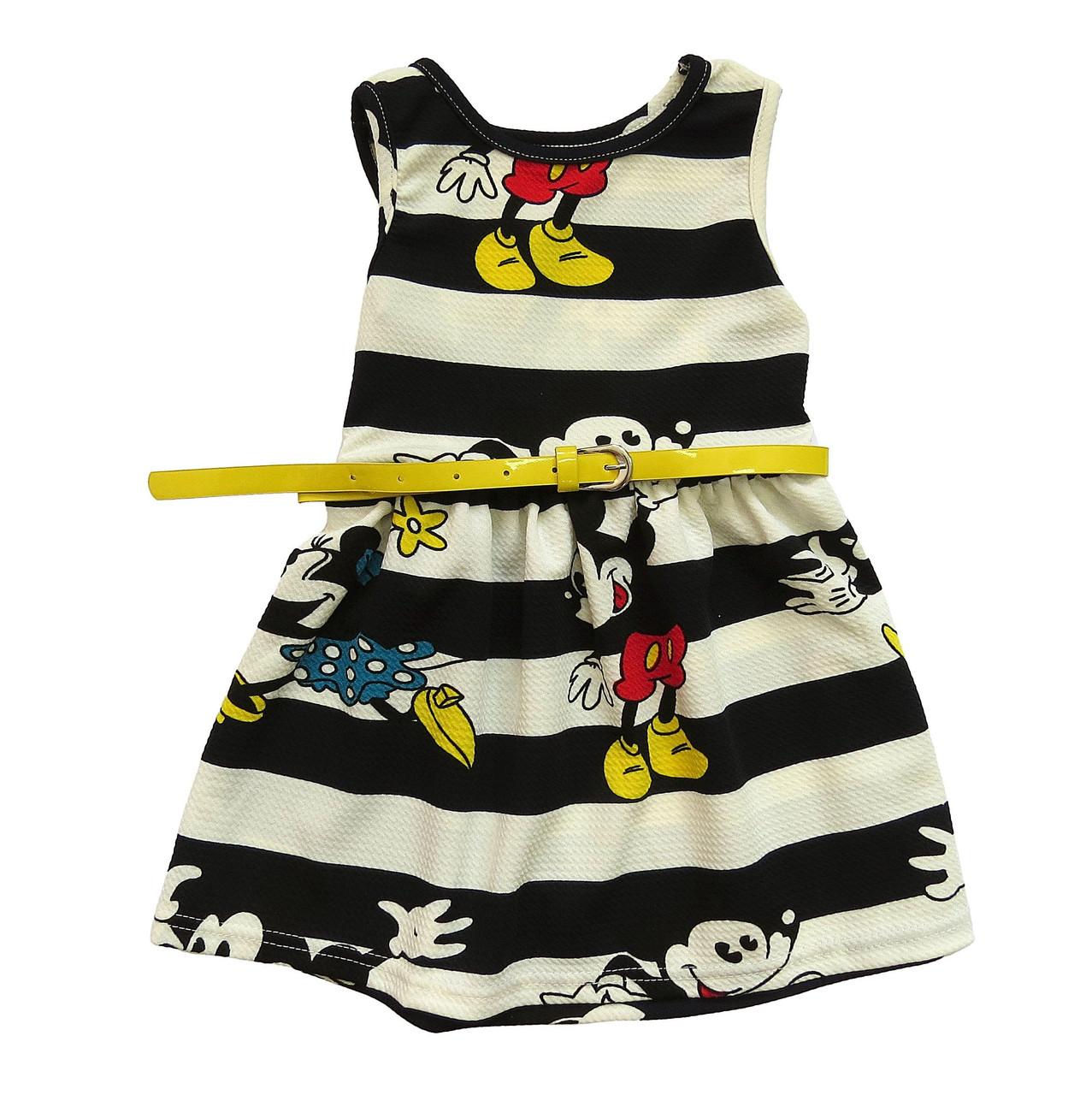Летнее платье Minnie Mouse для девочки. 100 см