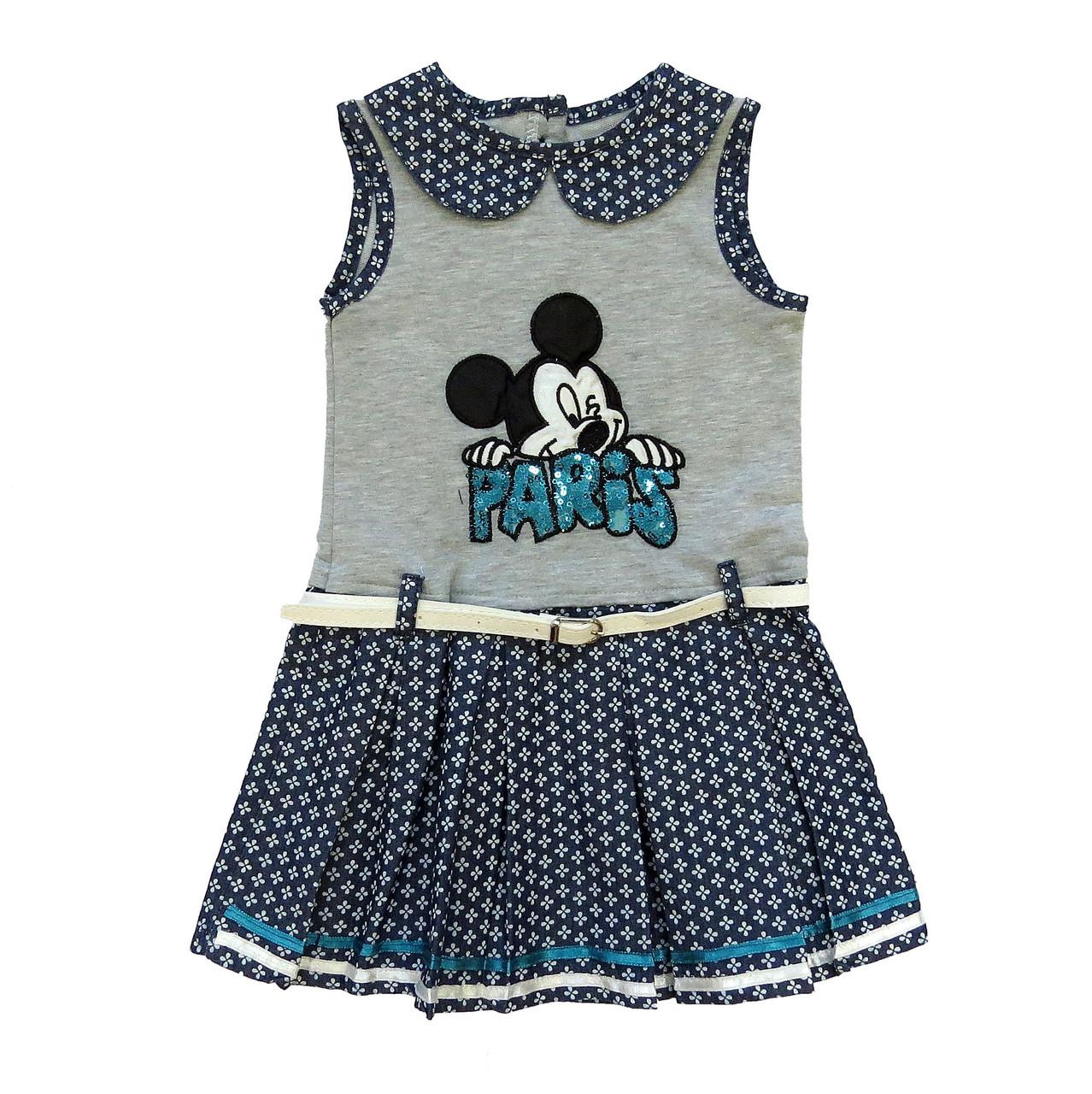 Летнее платье Mickey Mouse для девочки. 92, 104, 110 см