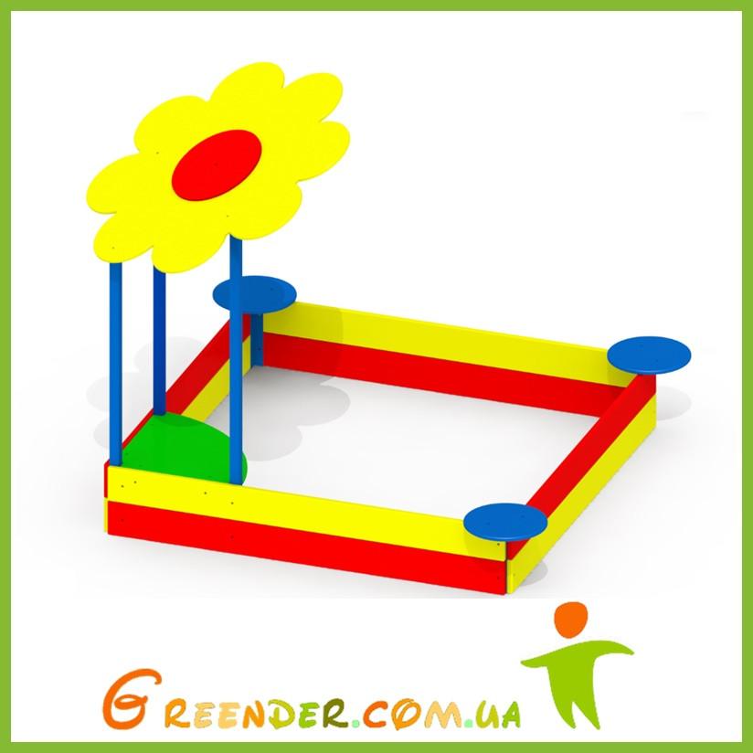 Детские песочницы большие игровые Цветочек P47