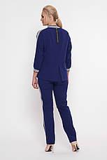 Синий костюм спорт шик большие размеры Вирджиния, фото 3