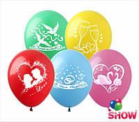 """Воздушные шарики Микс """"Любовь & Свадьба"""" 2 стороны"""