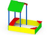 Уличная песочница для детского сада с навесом P49 цветные, фото 2