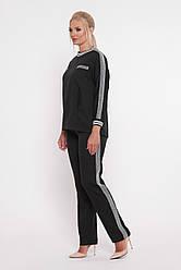 Чорний брючний костюм для повних Вірджинія