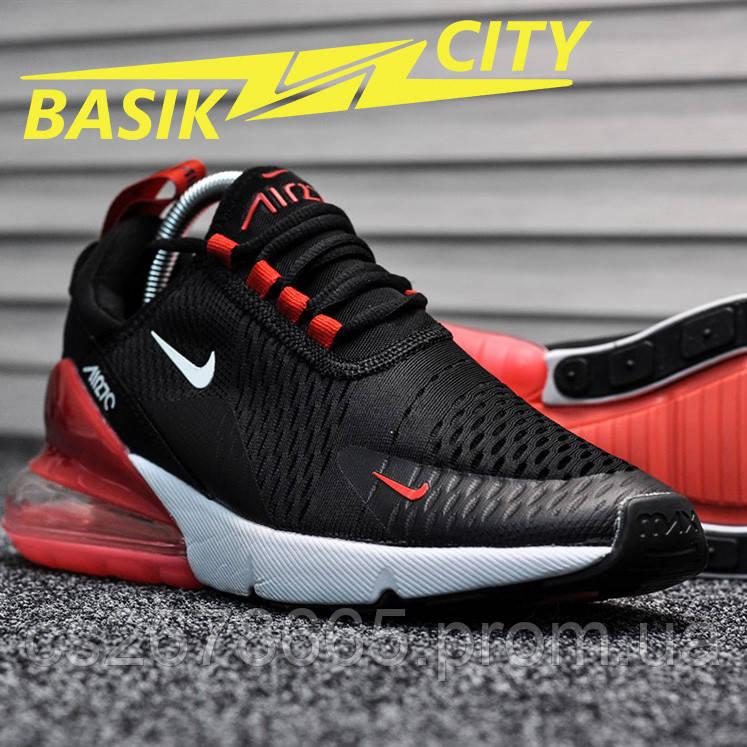 Мужские кроссовки Nike Air Max 270 Black Red White 41 размер - 26см