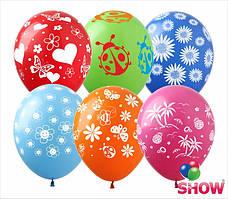 """Воздушные шарики 12"""" - Микс Лето (5ст)"""