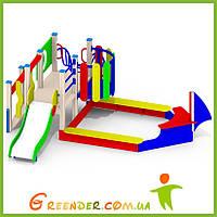Песочный дворик «Кораблик» Р27 для спортивных игровых площадок