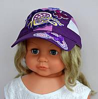 Ромашка бейсб, х/б+сетка, р. 49-52( 2-5 лет)  фиолет