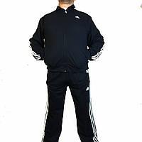 Мужской зимний спортивный костюм супер батал с начесом,адидас,adidas,три полосы,трикотаж,Турция