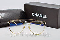 Оправа Chanel золотая круглая, фото 1