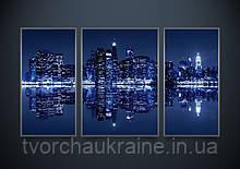 Схемы для вышивки бисером АР2-001 Ночной Нью-Йорк (триптих)