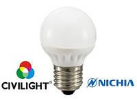 Лампа светодиодная CIVILIGHT G45 K2F35T4 4Вт 2700К CRI90 E27 7220