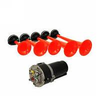 Автомобильный звуковой мелодичный воздушный сигнал RD 85 BR 5 дудок