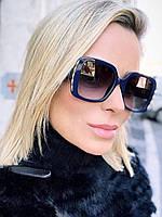 Солнцезащитные очки Gucci квадратные черные, фото 1
