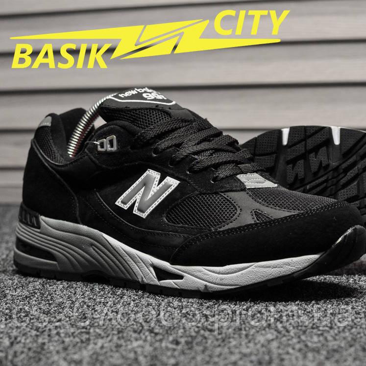 Мужские кроссовки New Balance 991 Black White