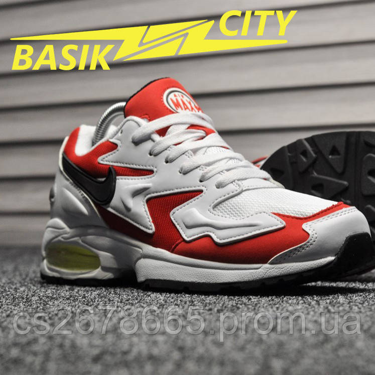Мужские кроссовки Nike Air Max 2 Light White Red