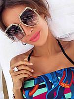 Солнцезащитные очки Gucci квадратные зеленые, фото 1