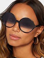 Солнцезащитные очки Gucci круглые черные, фото 1