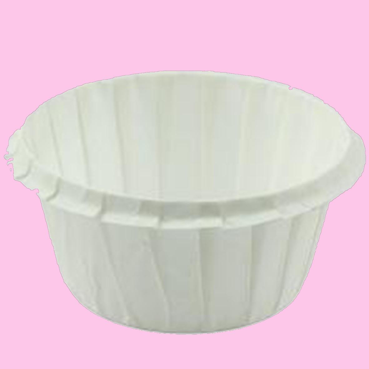 Формы бумажные для кексов усиленные с бортиком белые, 55*35 мм