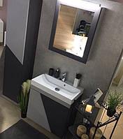 Черно-серый комплект мебели для ванной матовый Sultan Fancy Marble