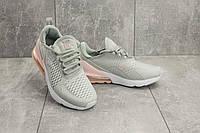 Кроссовки G 3074-2 (Nike Air 270) (весна/осень, женские, текстиль, серо-бело-розовые)
