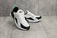 Кроссовки G 3074-6 (Nike Air 270) (весна/осень, женские, текстиль, бело-черные)