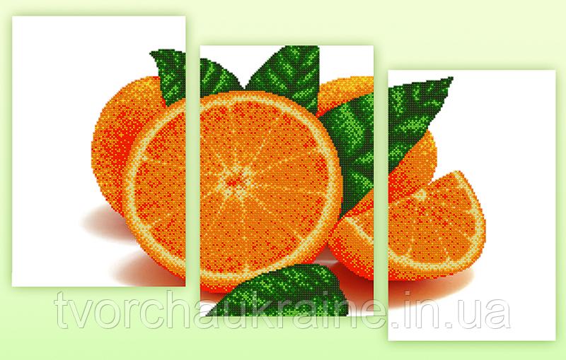 Схемы для вышивки бисером AP3-009 Апельсин. Триптих
