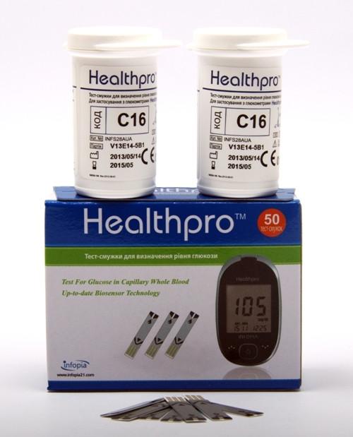 Тест-полоски HealthPro (ХелсПро), 50 шт