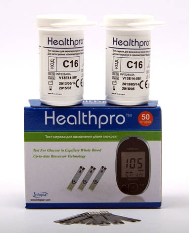Тест-полоски HealthPro (ХелсПро), 50 шт , фото 2