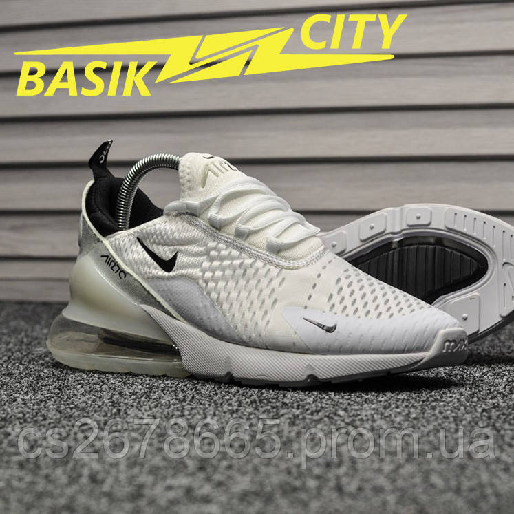 Мужские кроссовки Nike Air Max 270 White Black 42 размер - 26.5см