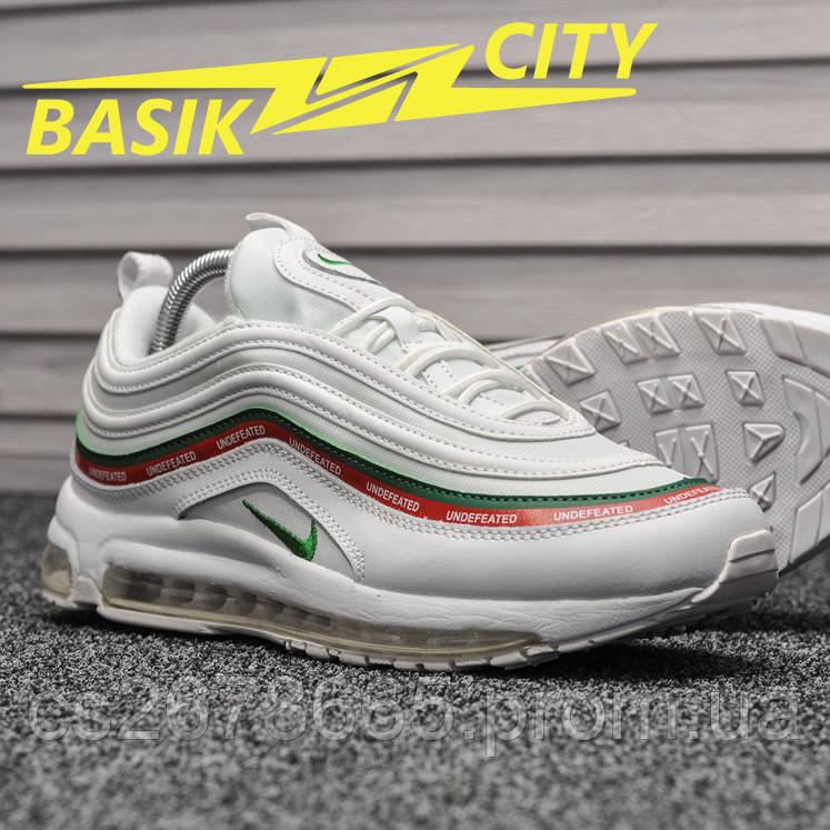 Мужские кроссовки Nike Air Max 97 White Undefeated
