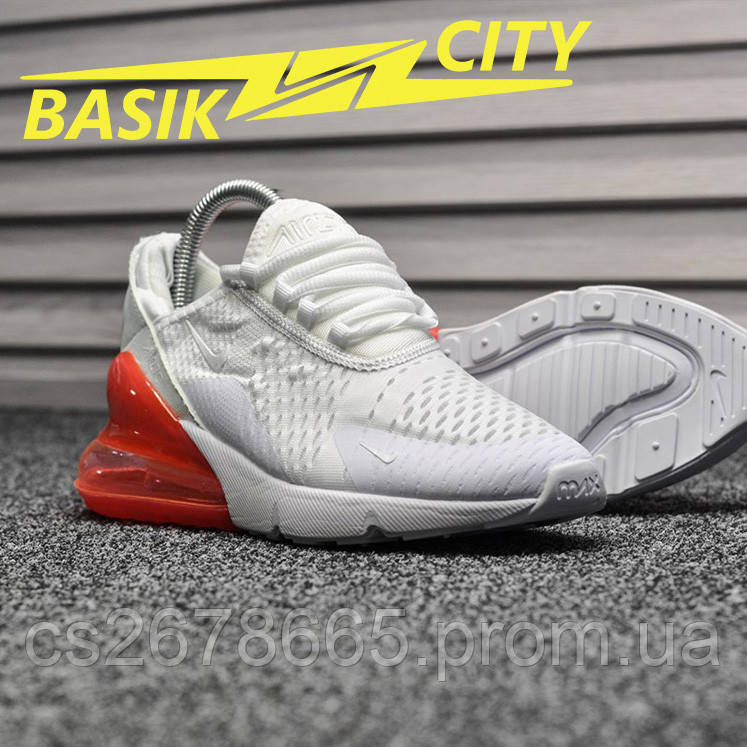 Женские кроссовки Nike Air Max 270 White Red